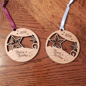 Wood Star Ornaments
